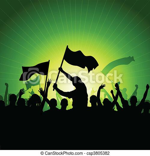 zászlók, tolong, boldog - csp3805382