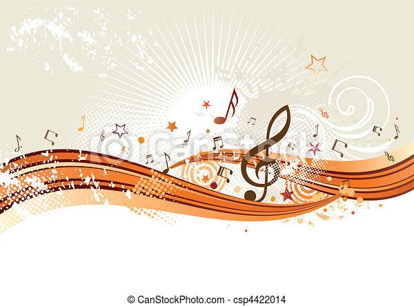 zene, háttér - csp4422014