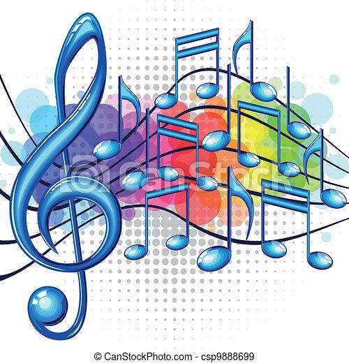 zene, háttér - csp9888699