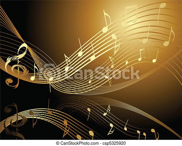 zene híres, háttér - csp5325920