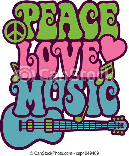 zene, szeret, béke - csp4249409